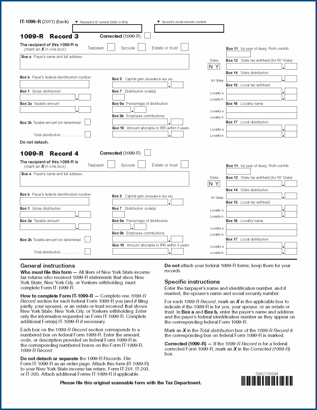 Fill In 1099 Form