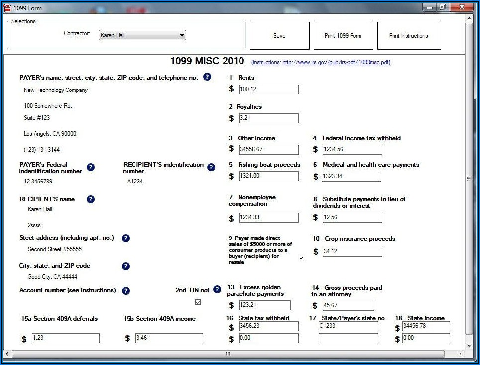 Fill Out 1099 Form