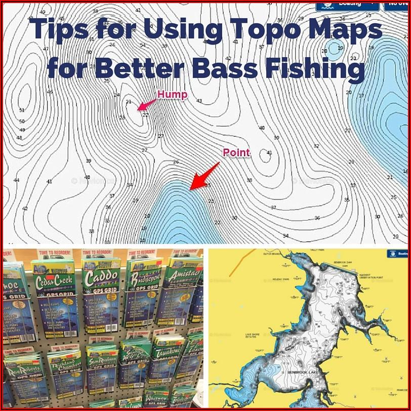 Fishing Contour Maps App