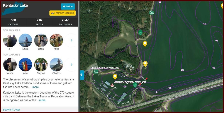 Fishing Contour Maps
