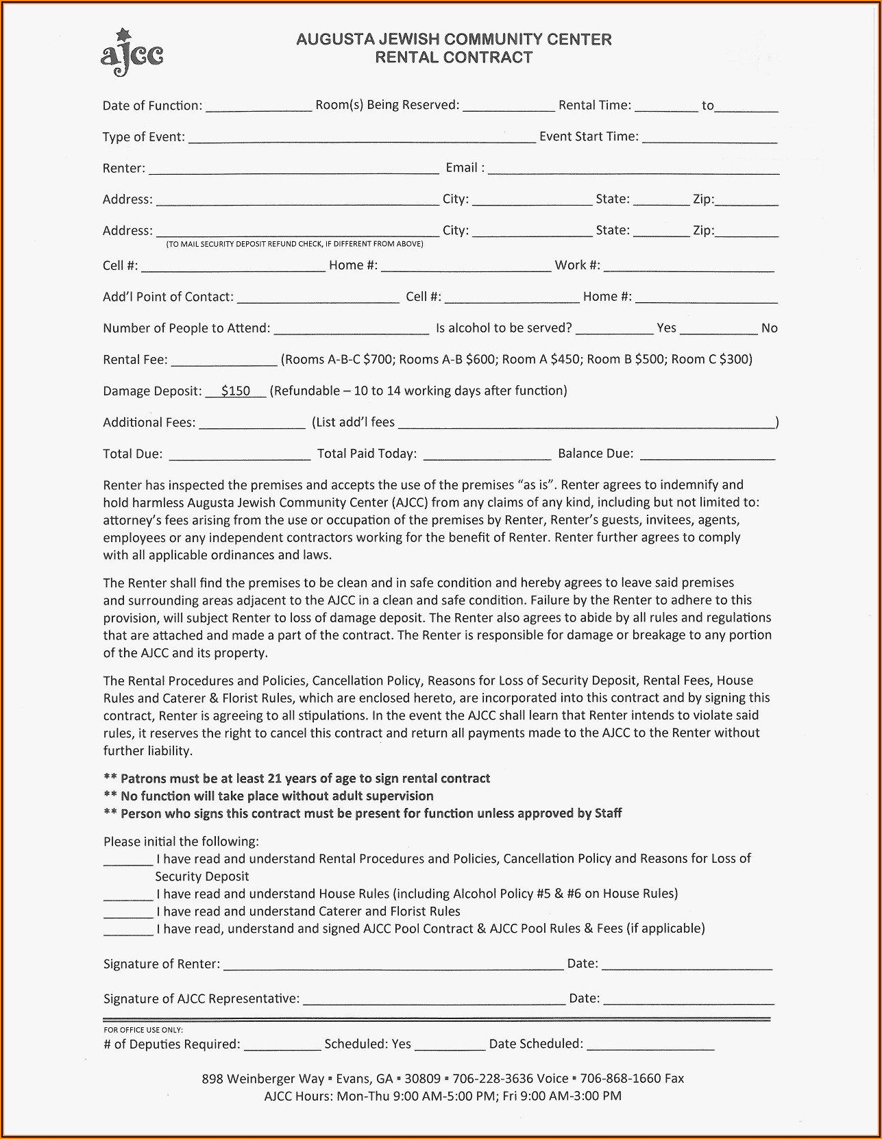 Florist Wedding Contract Template