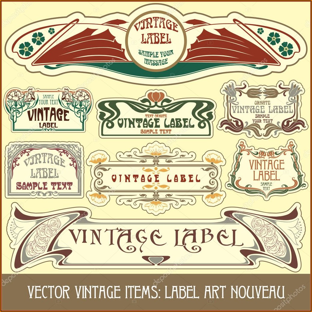 Free Antique Label Templates