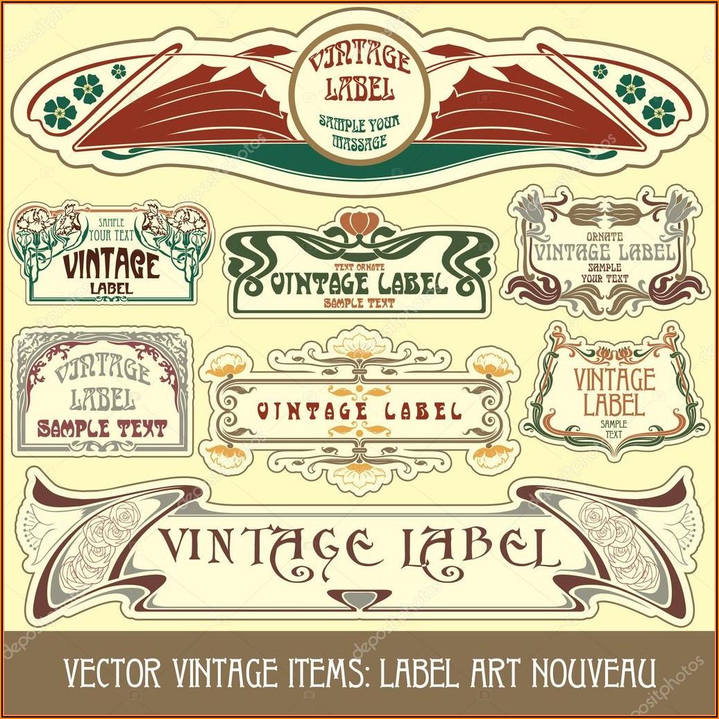 Free Antique Label Templates