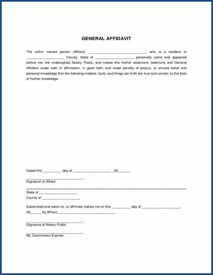 Free California General Affidavit Form