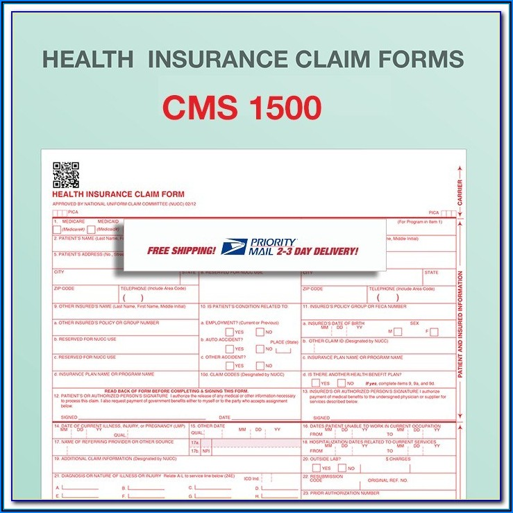 Free Cms 1500 Fillable Form