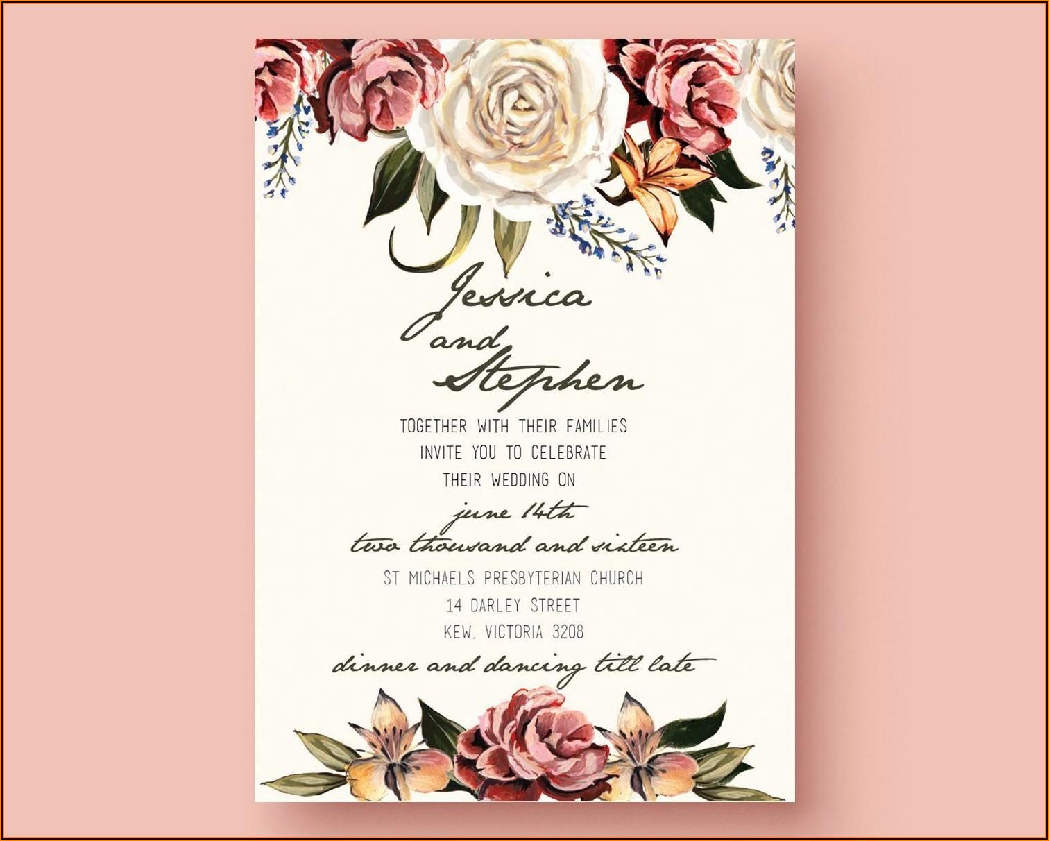 Free Editable Wedding Invitation Templates Download