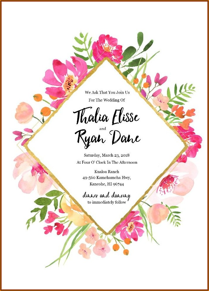 Free Editable Wedding Invitation Templates