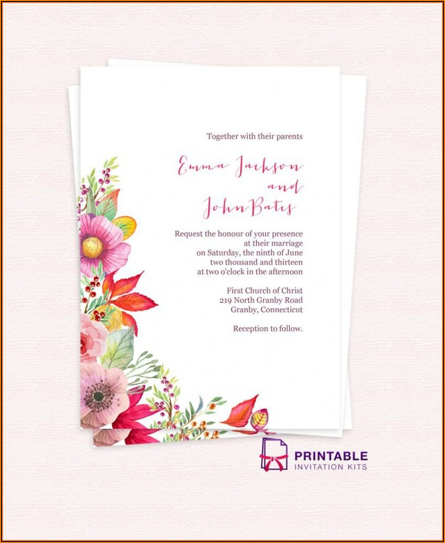 Free Editable Wedding Invitation Video Templates Free Download