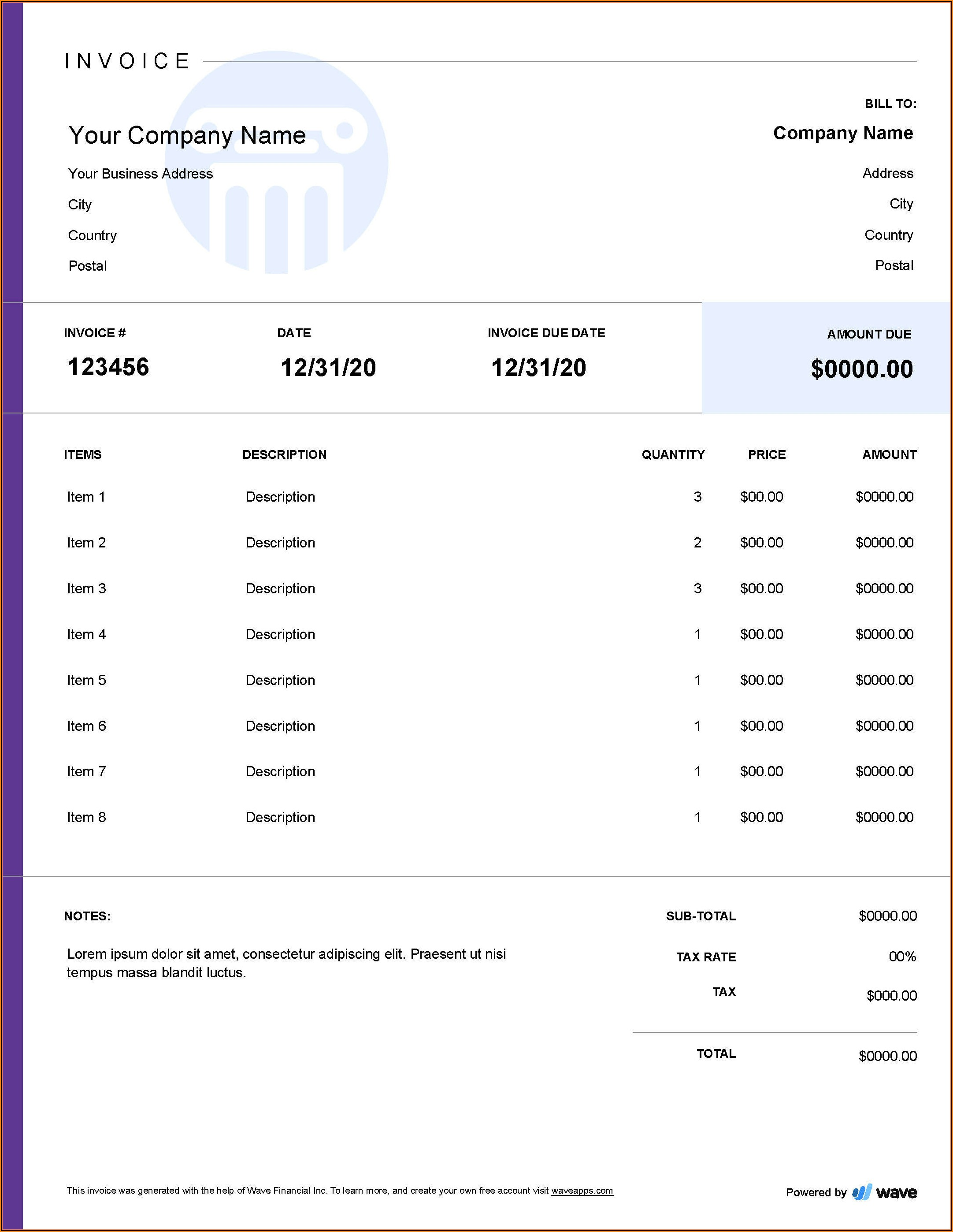 Free Legal Billing Invoice Template
