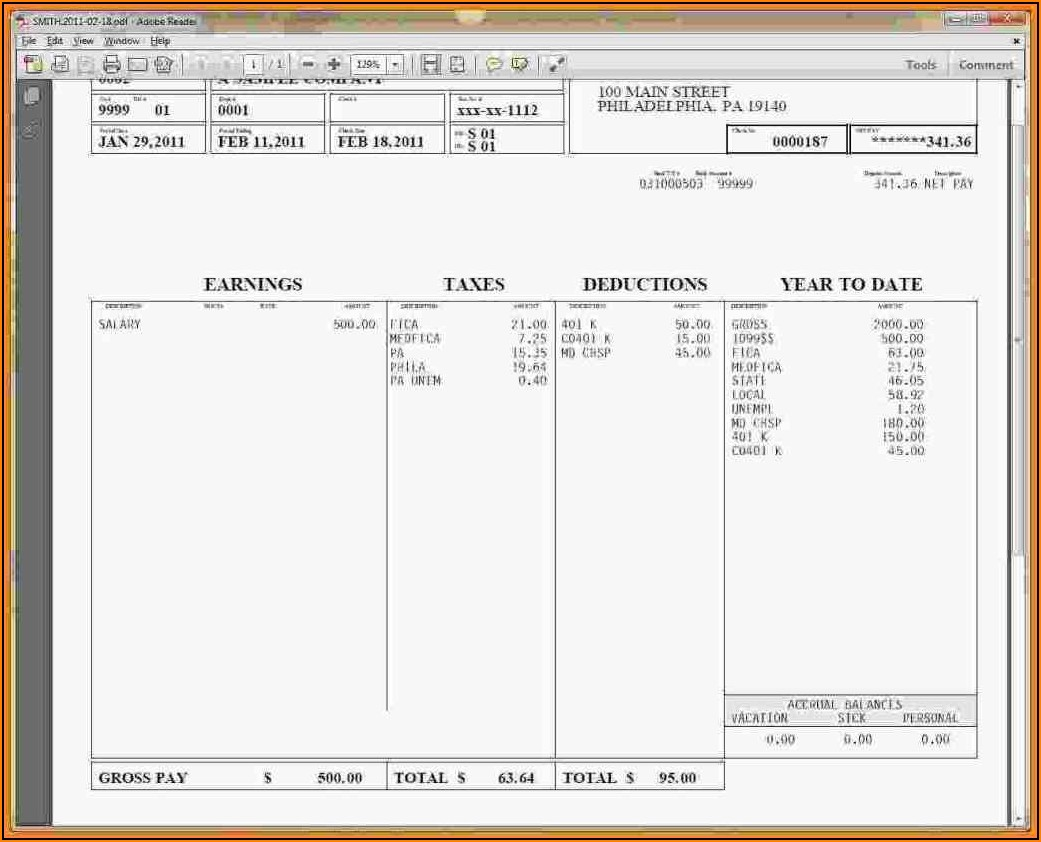 Free Paycheck Stubs Templates Downloads