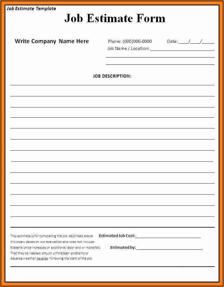Free Printable Roofing Estimate Template