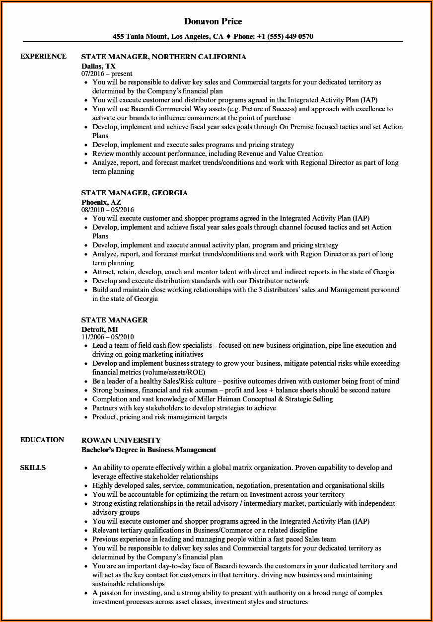 Free Resume Templates For Federal Jobs