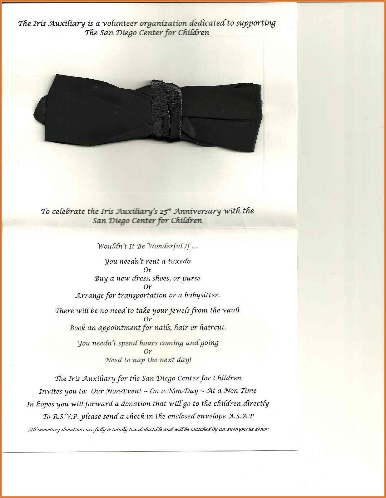Fundraising Invitation Template