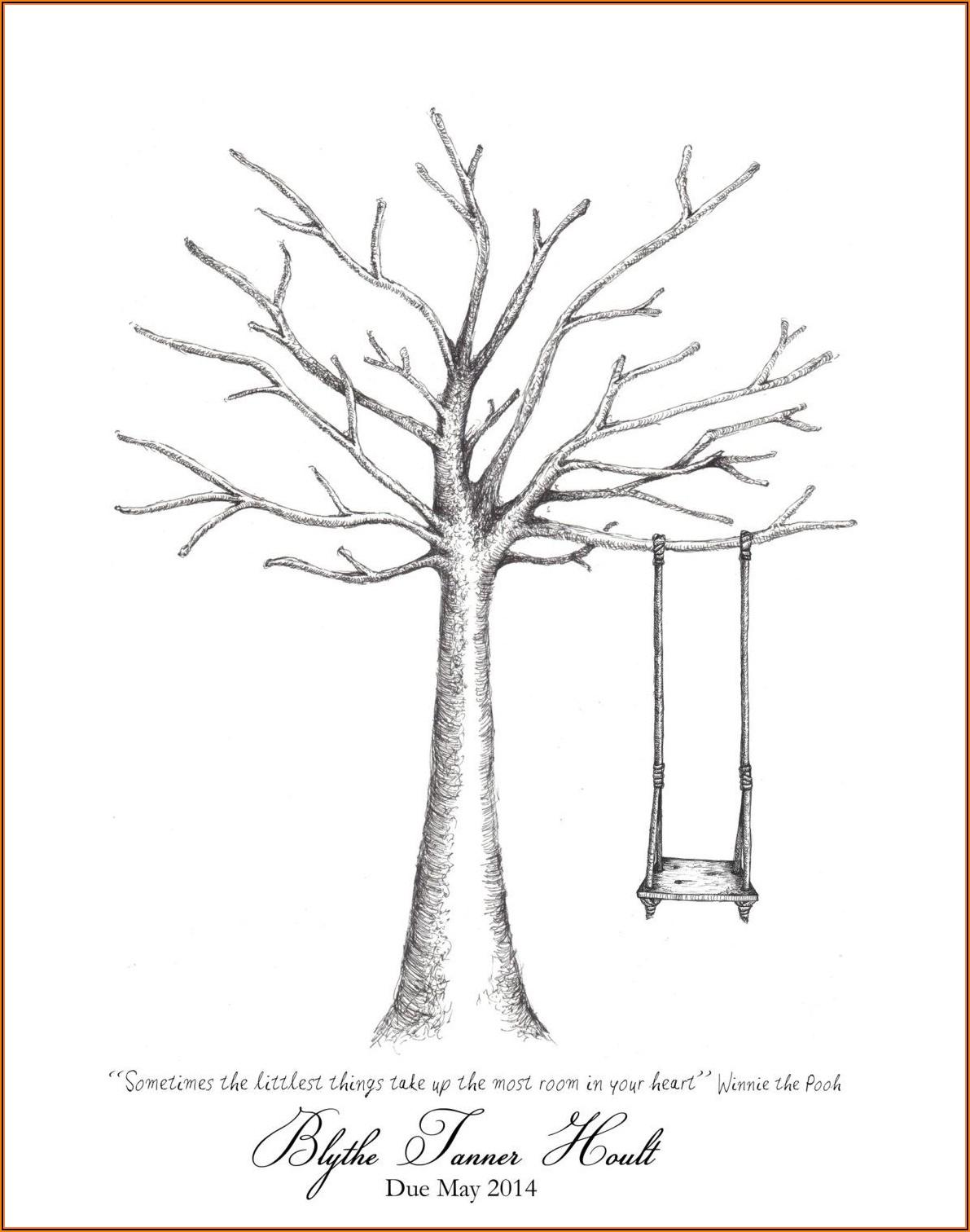 Gender Reveal Tree Template