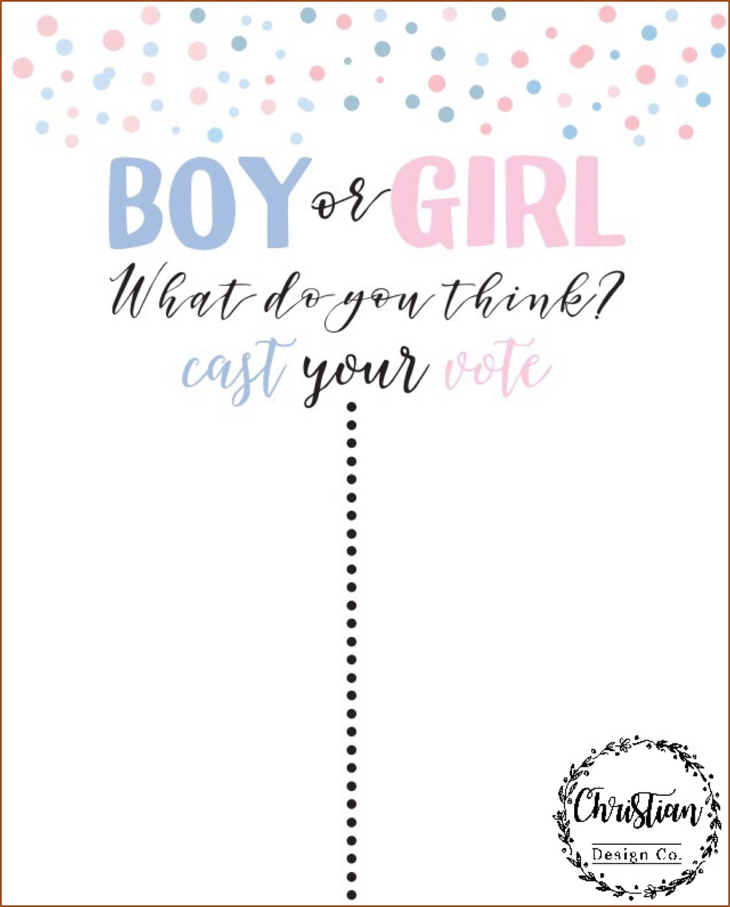 Gender Reveal Vote Template