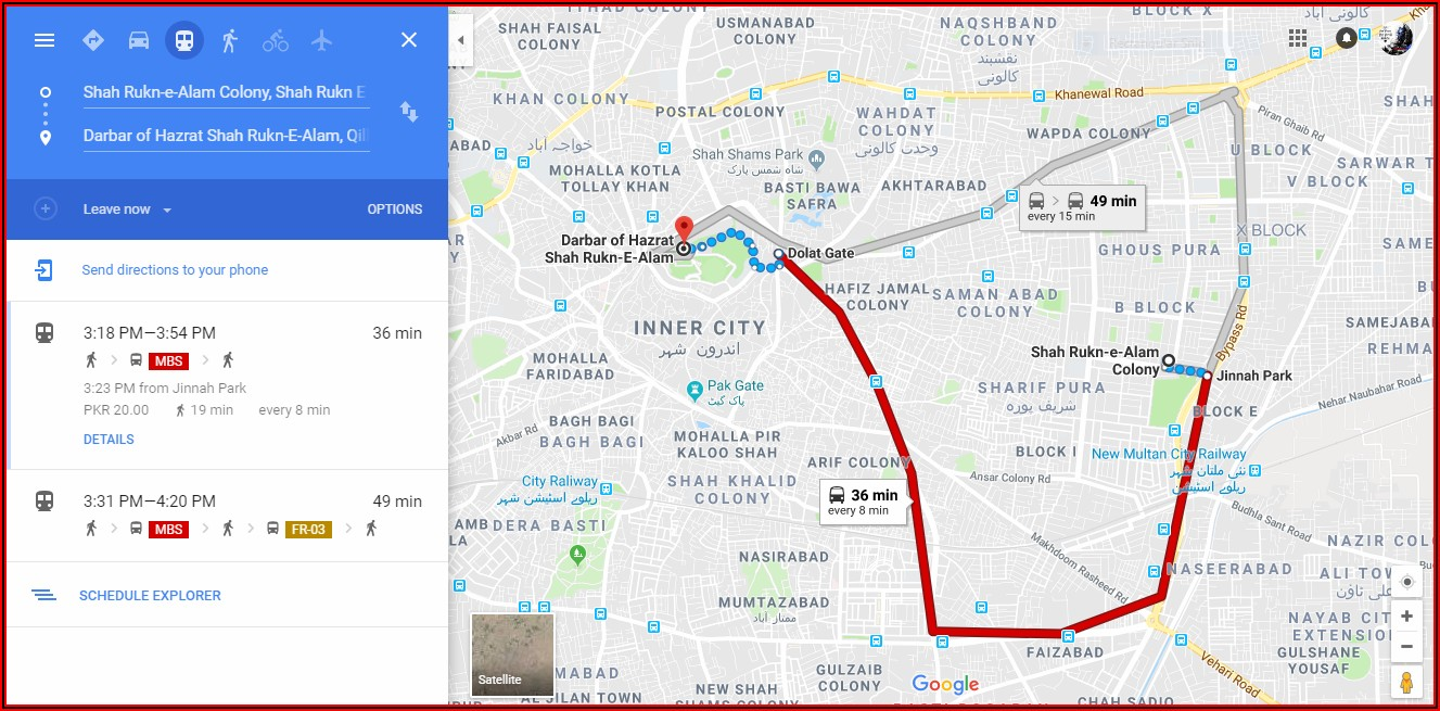 Google Maps And Routes
