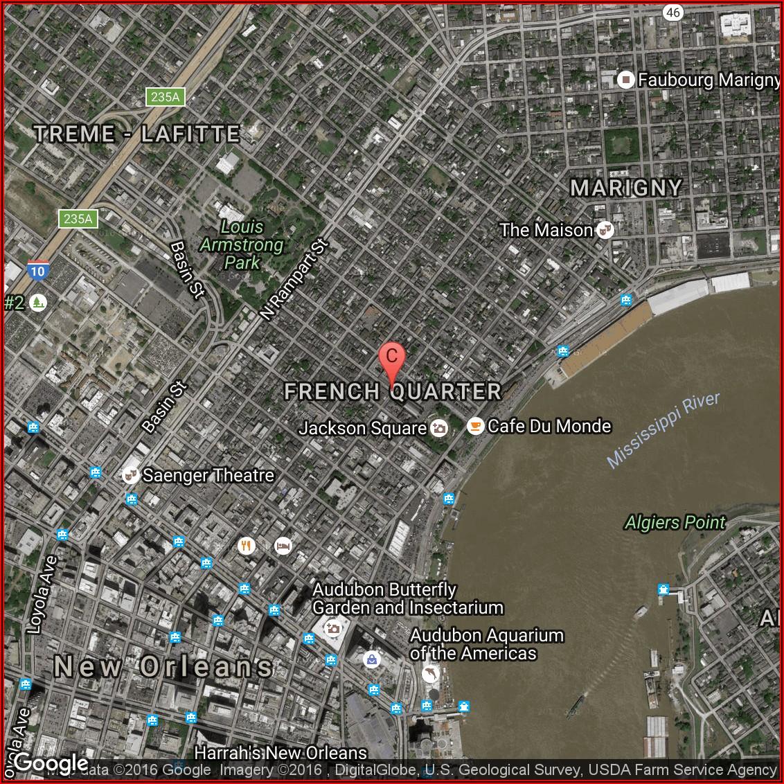 Google Maps French Quarter Hotels