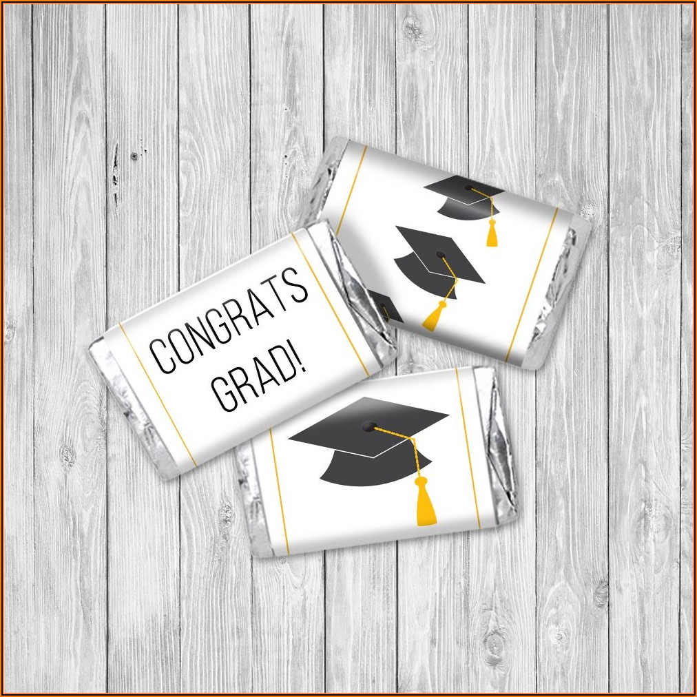 Graduation Mini Candy Bar Wrapper Template