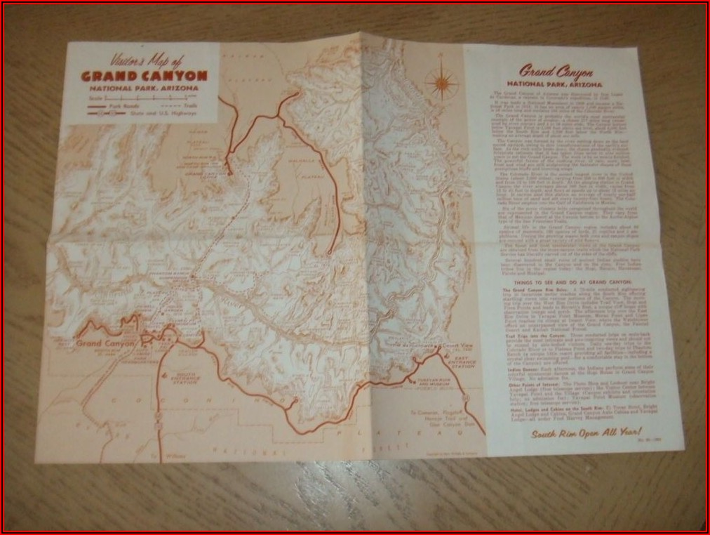 Grand Canyon Lodge Map