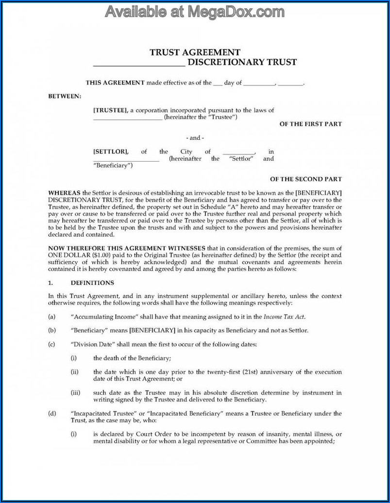 Irrevocable Trust Forms Texas