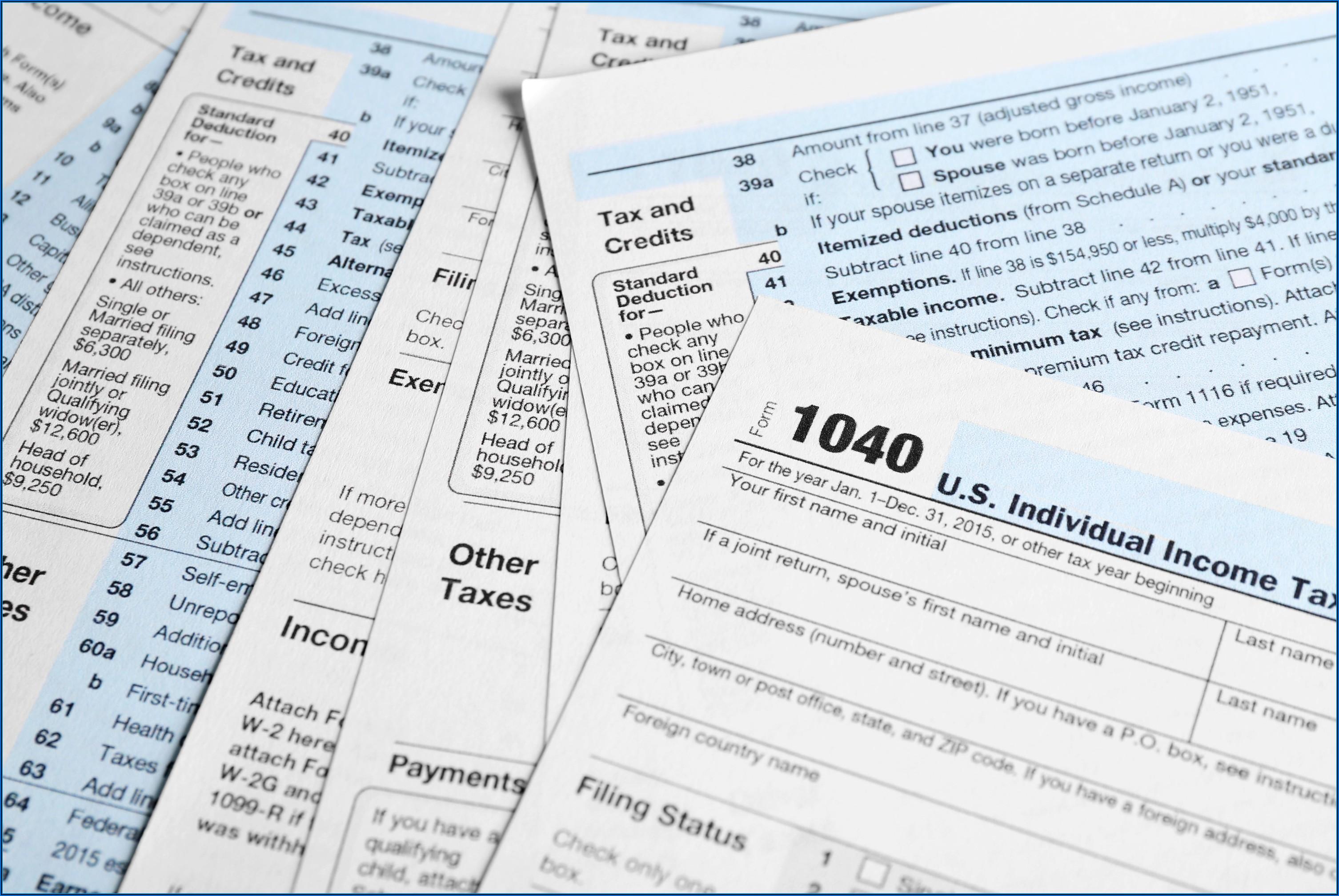 Irs Tax Forms 1040ez Free