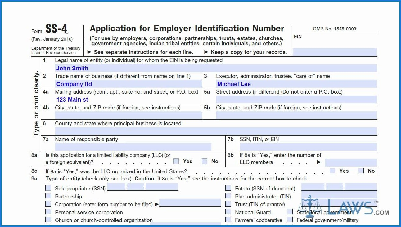 Irs.gov Form Ss 4 Online