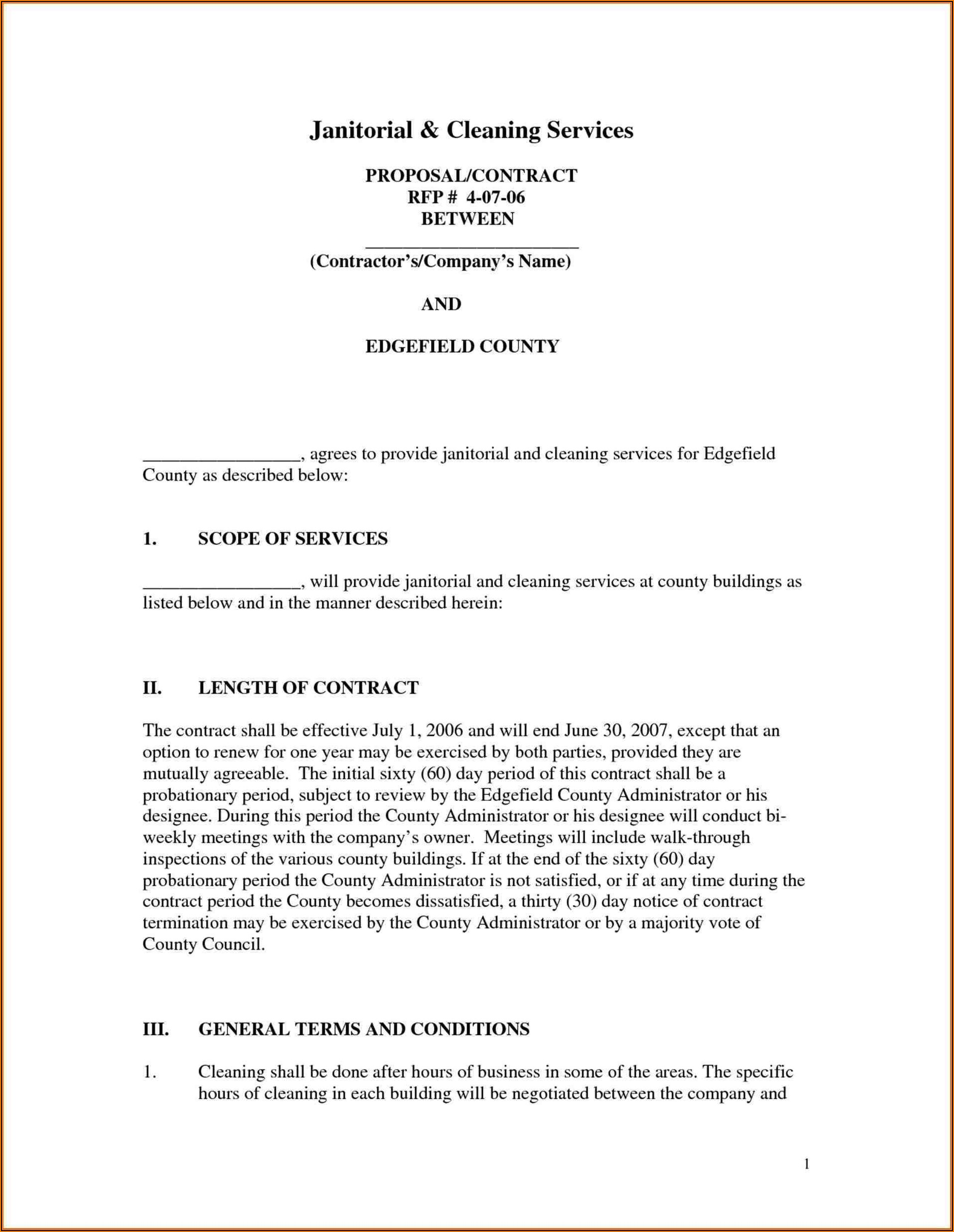 Janitorial Business Proposal Template