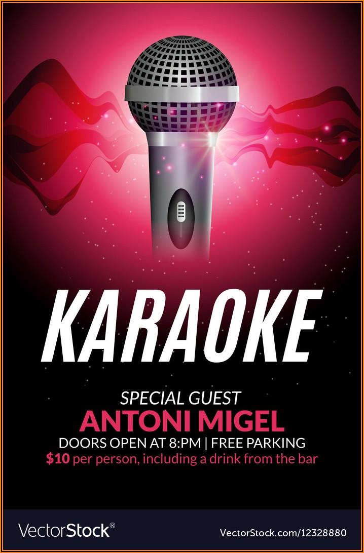 Karaoke Party Invitation Template