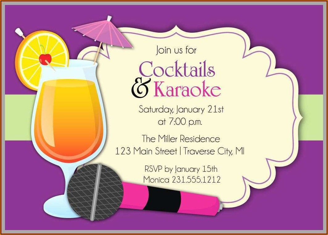 Karaoke Party Invitation Templates