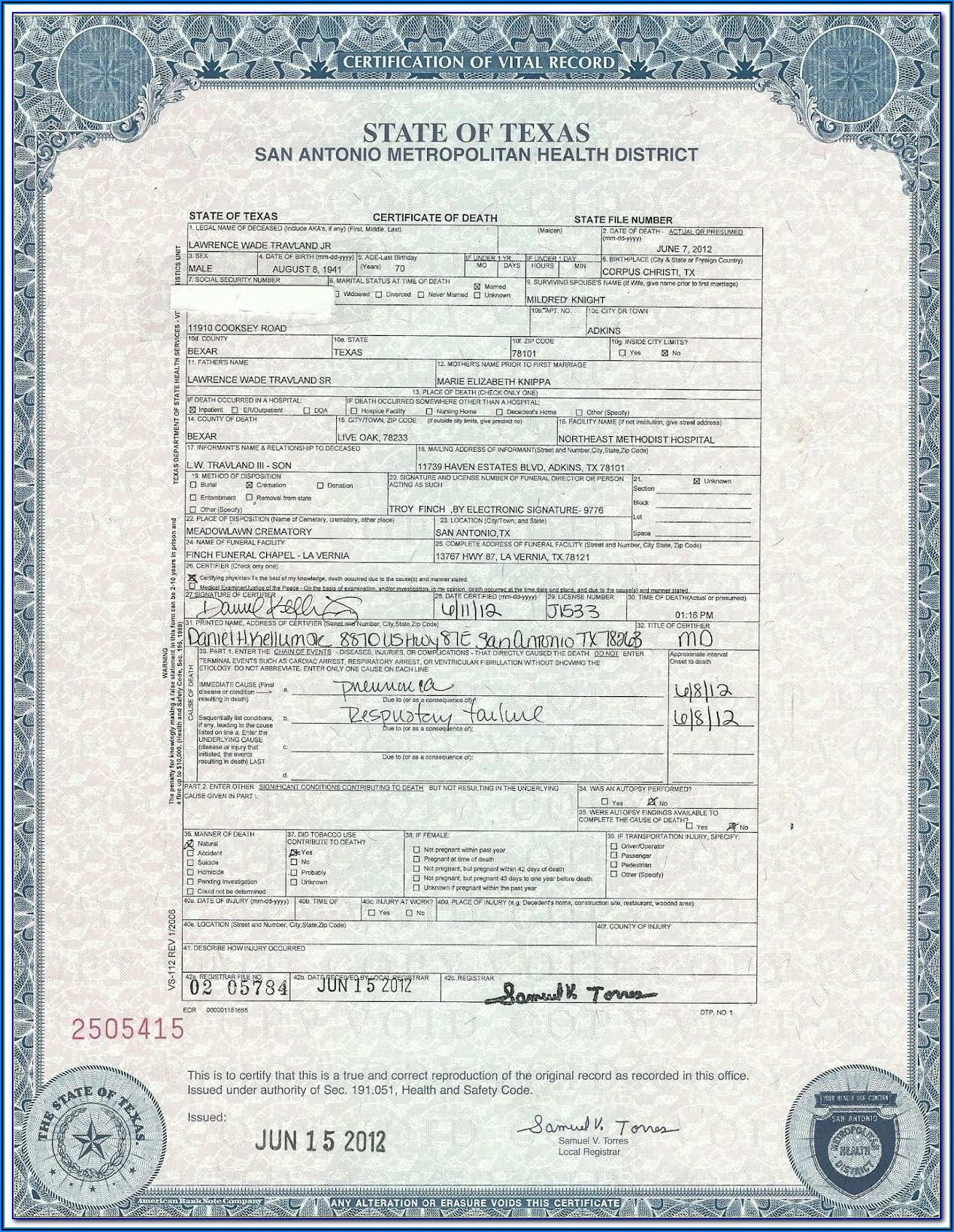 Liberia Birth Certificate Application Form Download