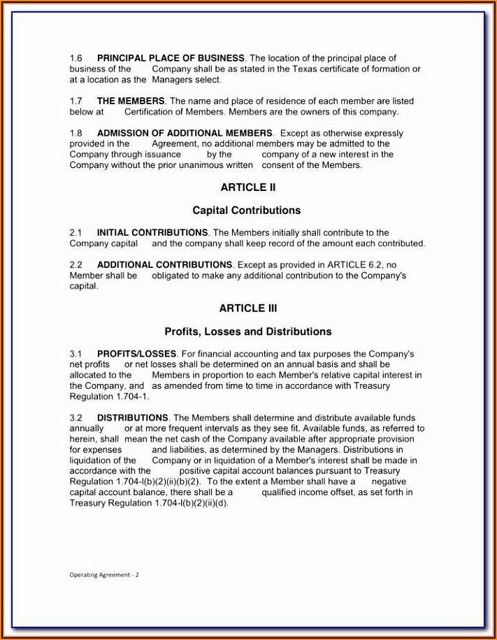 Llp Partnership Agreement Template Malaysia