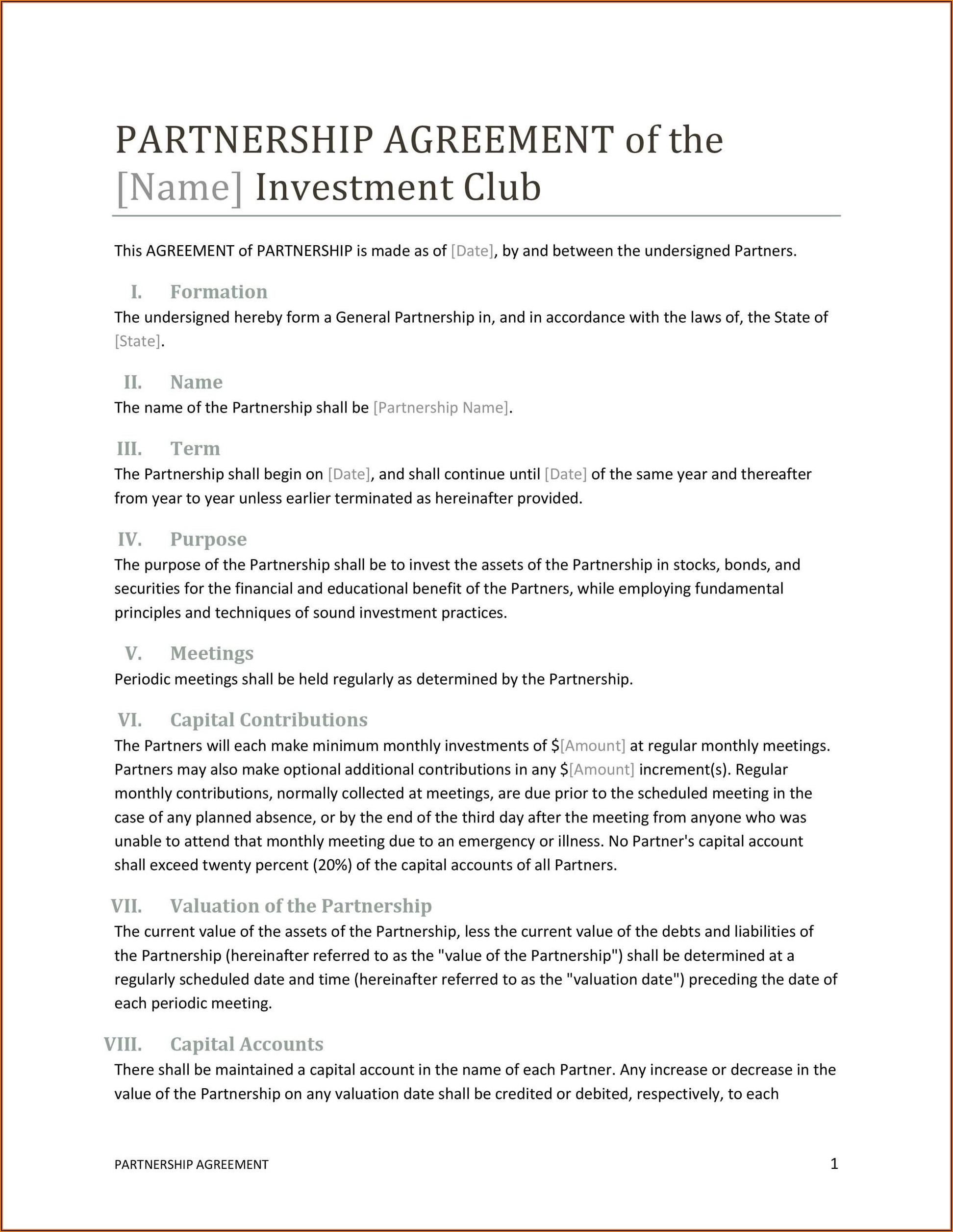 Llp Partnership Agreement Template Uk
