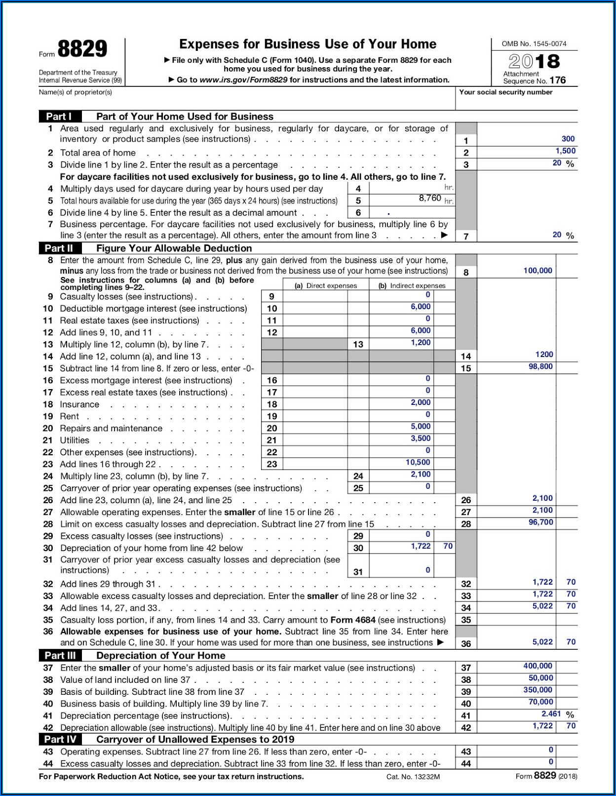 Long Form Tax Deductions 2019
