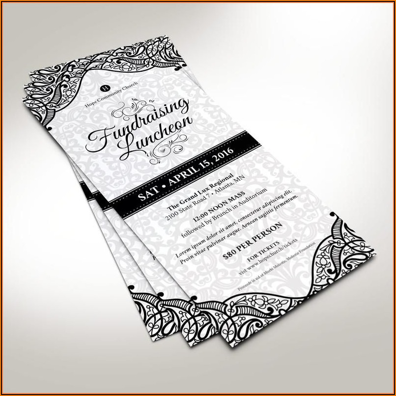 Luncheon Invitation Template Word