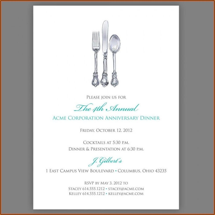 Luncheon Invitation Template