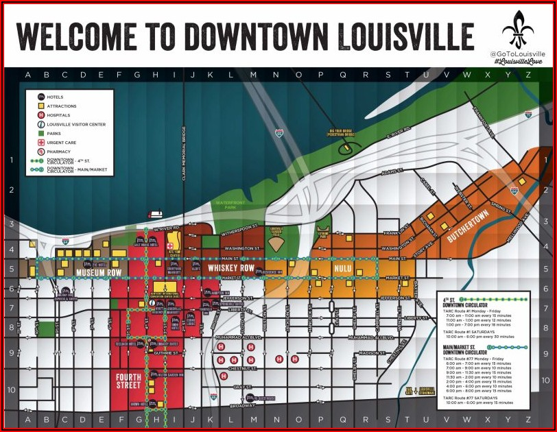 Map Of Hotels In Louisville Kentucky