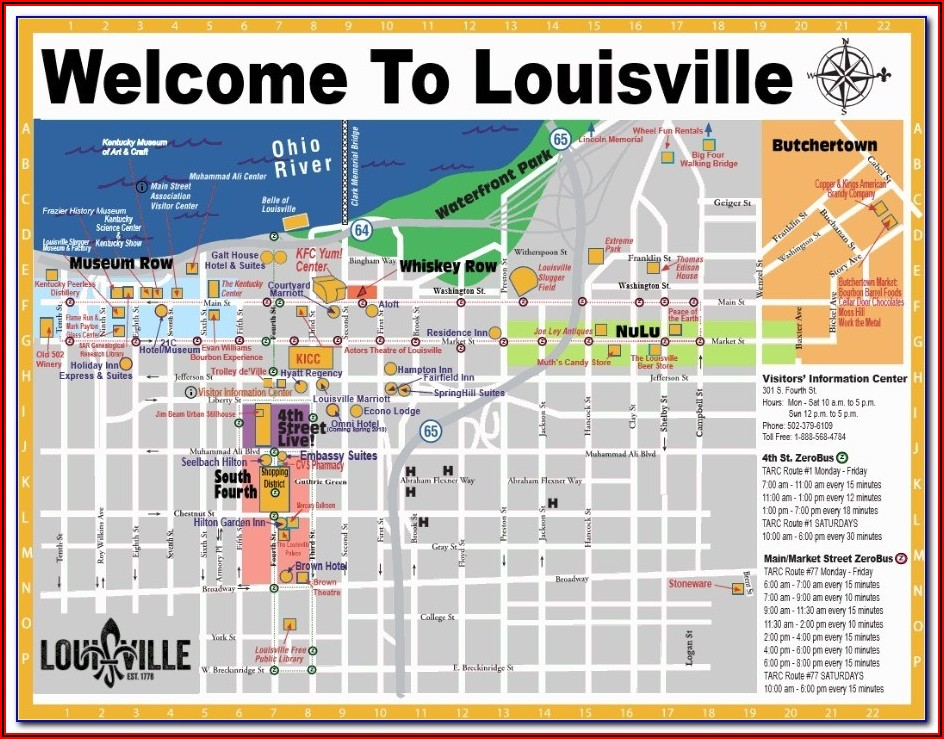 Map Of Hotels In Louisville Ky