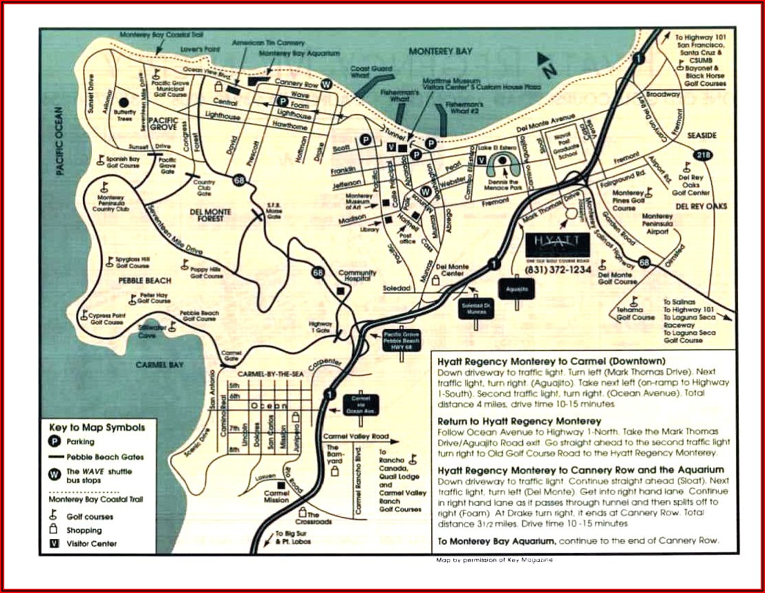 Map Of Hotels In Monterey California