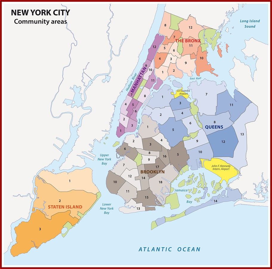 Map Of New York City Boroughs And Neighborhoods