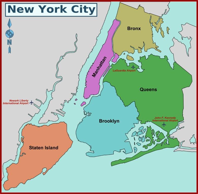Map Of Nyc Boroughs And Neighborhoods