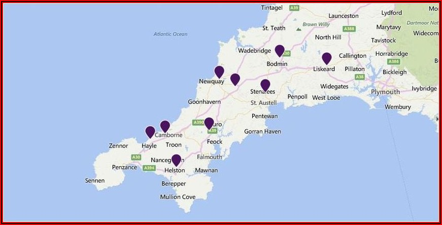 Map Of Premier Inns Around London