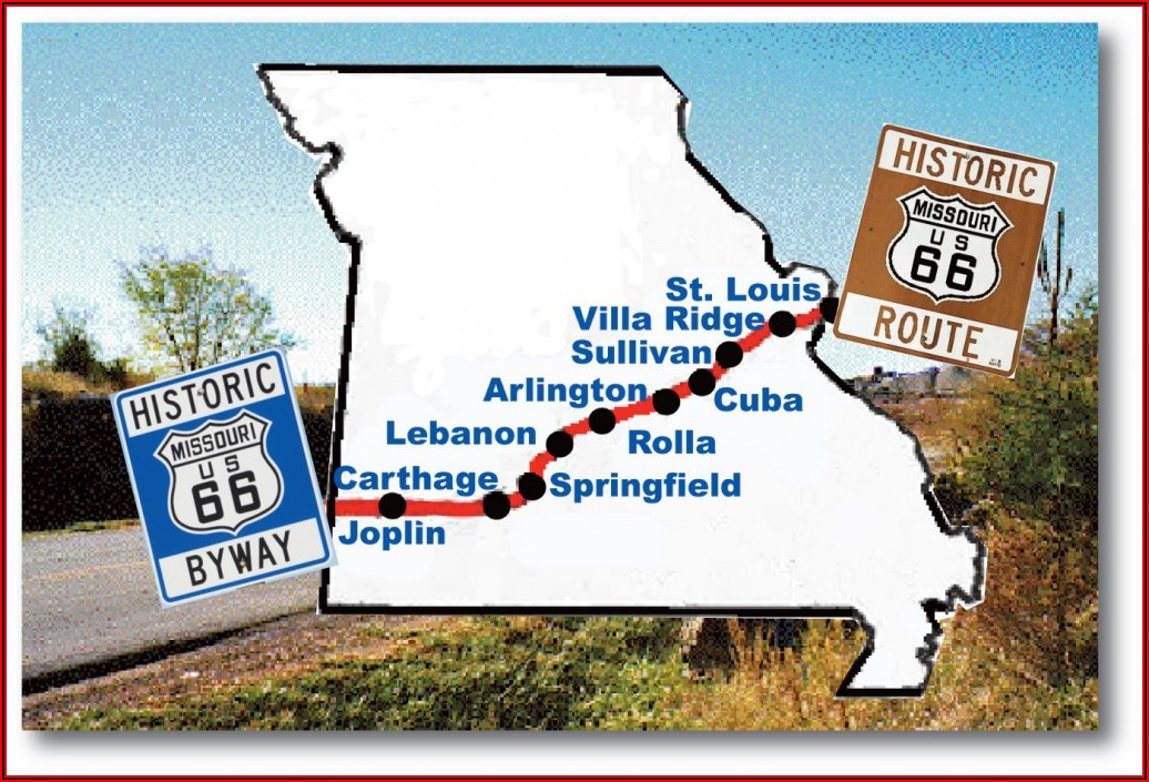 Map Of Rt 66 In Missouri