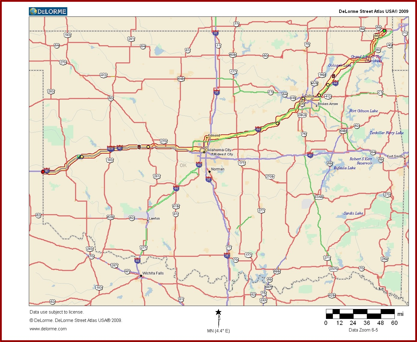 Map Of Rt 66 In Oklahoma