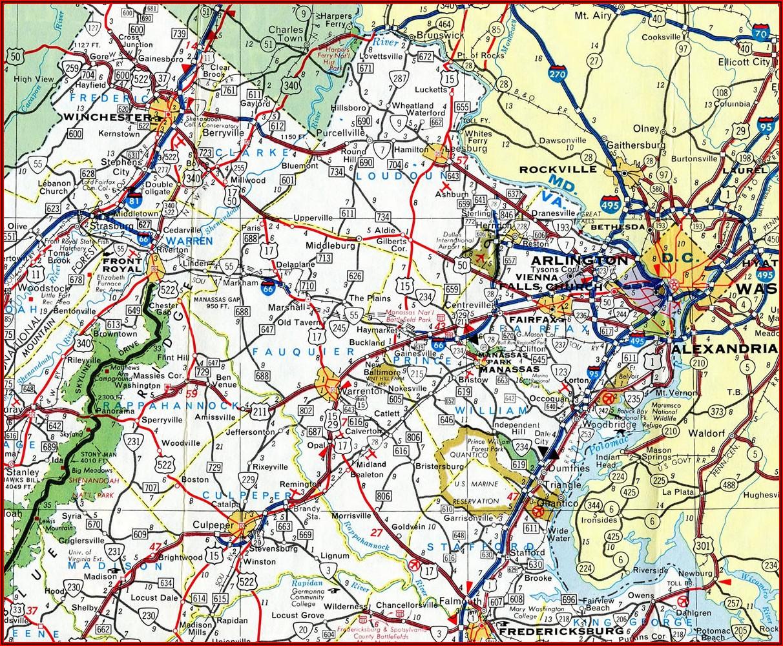Map Of Rt 66 In Va