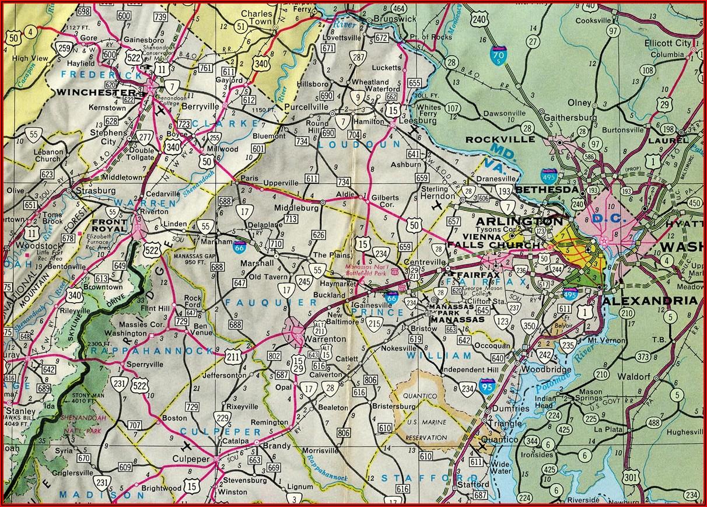 Map Of Rt 66 In Virginia