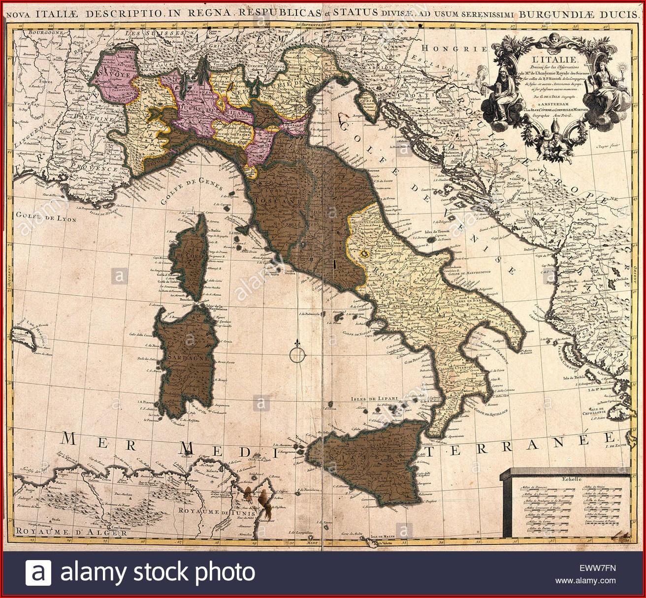 Map Of Sardinia And Corsica