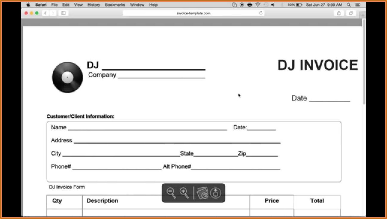 Mobile Disco Contract Template