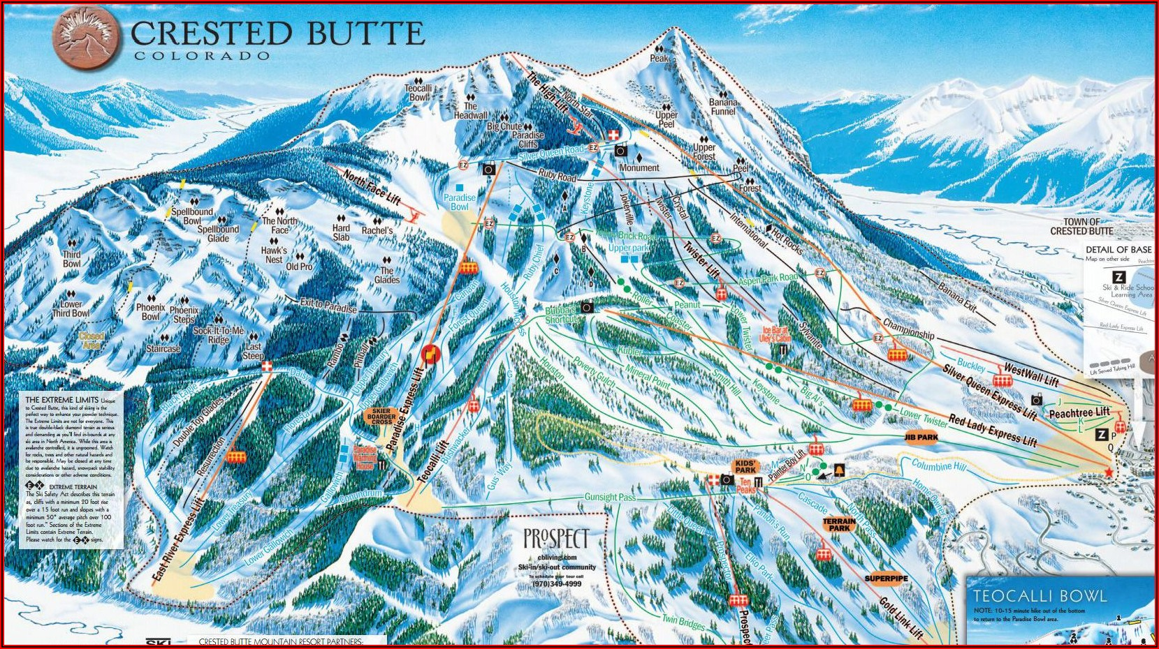 Mt Crested Butte Lodging Map
