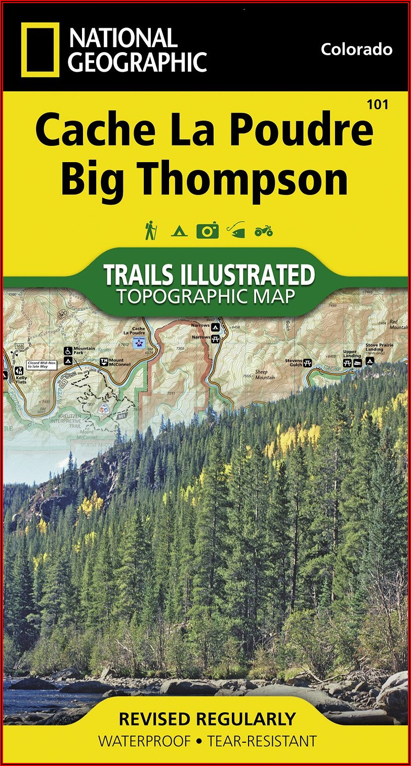 National Geographic Trails Illustrated Maps Colorado
