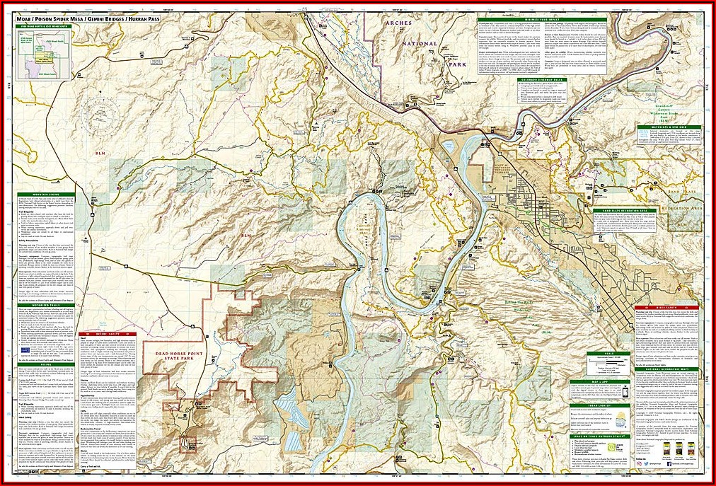 National Geographic Trails Illustrated Maps Utah